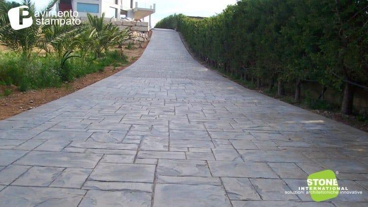Pavimento cemento stampato
