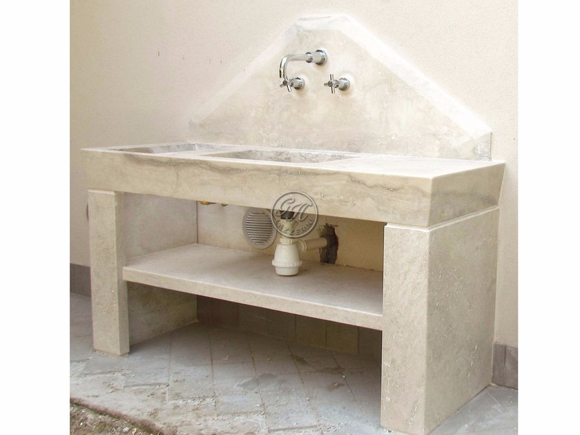 Natural stone sink Stone sink 5 - Garden House Lazzerini