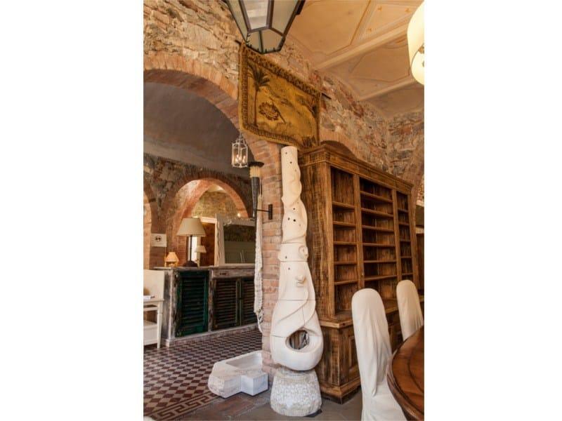 Wood-burning natural stone stove Stove 3 - Garden House Lazzerini