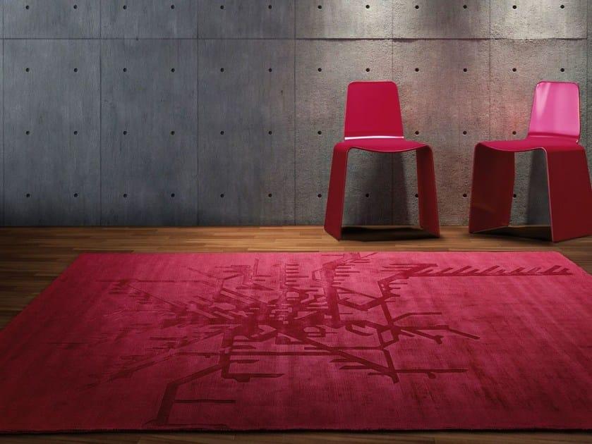 Rectangular silk rug SUBWAY - ITALY DREAM DESIGN - Kallisté