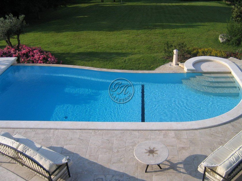 In-Ground natural stone swimming pool Swimming pool 8 by GH LAZZERINI