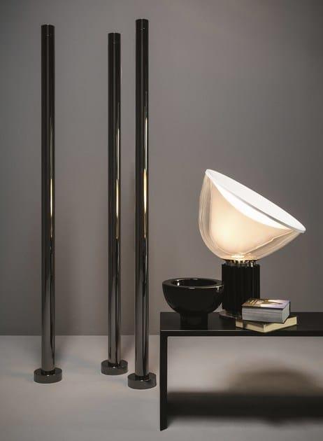 Floor-standing chromed brass decorative radiator T.B.T. | Floor-standing decorative radiator - Tubes Radiatori
