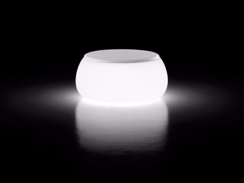 Round polyethylene coffee table with light T BALL LIGHT | Coffee table with light - PLUST Collection by euro3plast