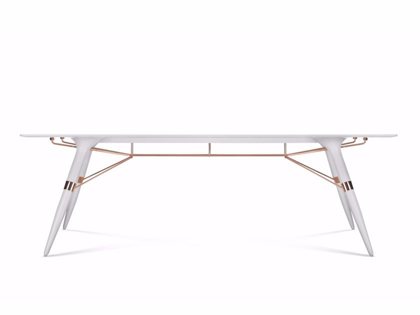 Rectangular Corian® table T / BIG - dsignedby