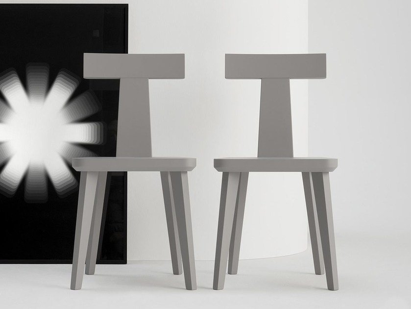 Solid wood chair T COFFEE | Solid wood chair by SIPA