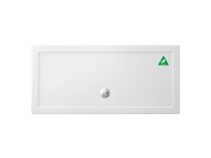 Anti-slip rectangular acrylic shower tray T-FORMAT | Rectangular shower tray - Polo