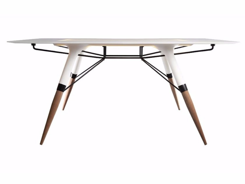 Rectangular Corian® table T / LARGE - dsignedby