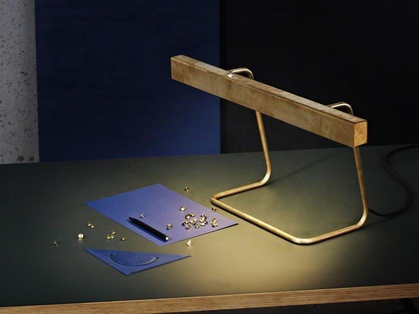 LED brass table lamp T MODEL - Anour