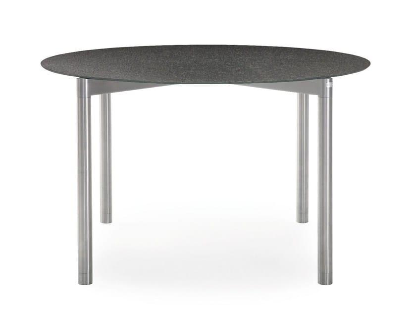 Tavolo da giardino rotondo in ceramica T-SERIES | Tavolo rotondo - solpuri