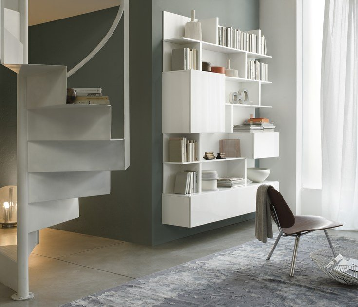 T030 libreria by lema design piero lissoni - Libreria a parete sospesa ...