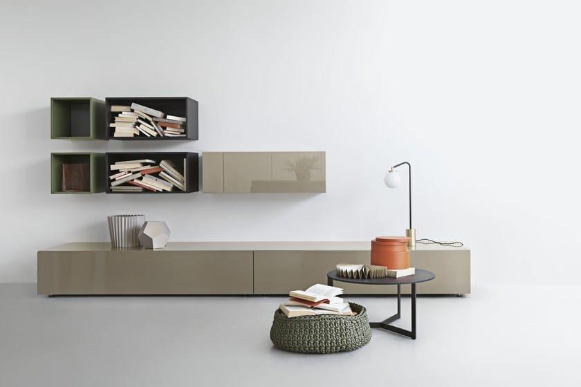 T030 libreria by lema design piero lissoni for Mobili lema soggiorno