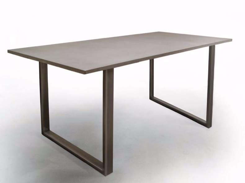 Rectangular fiber cement dining table T2 | Table by MALHERBE EDITION