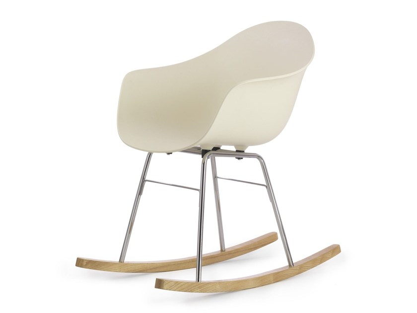 Rocking polypropylene chair TA ER CHROME | Rocking chair by KUBIKOFF