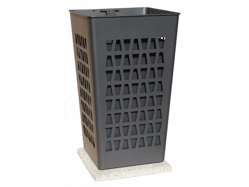 Steel waste bin with ashtray TABÙ - A.U.ESSE