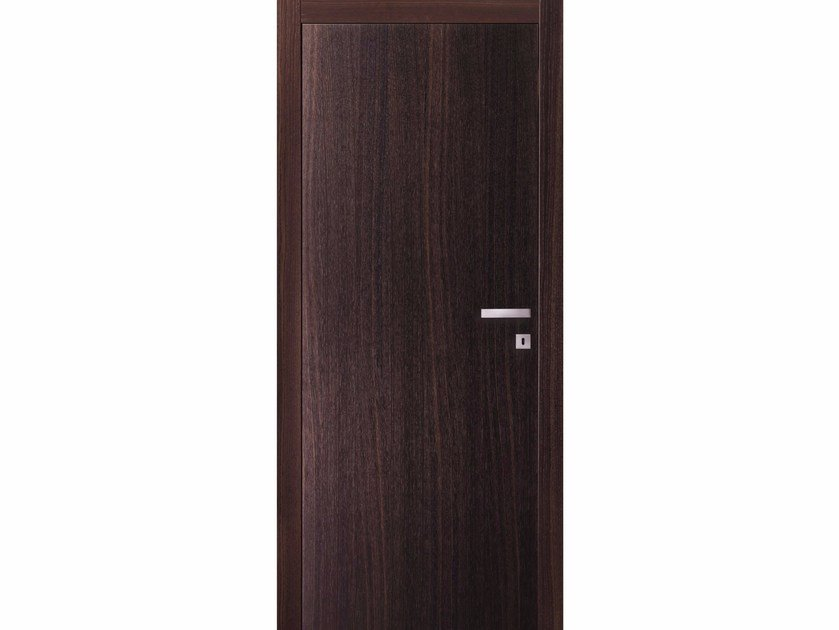 Hinged wooden door TABACCO ON - BARAUSSE