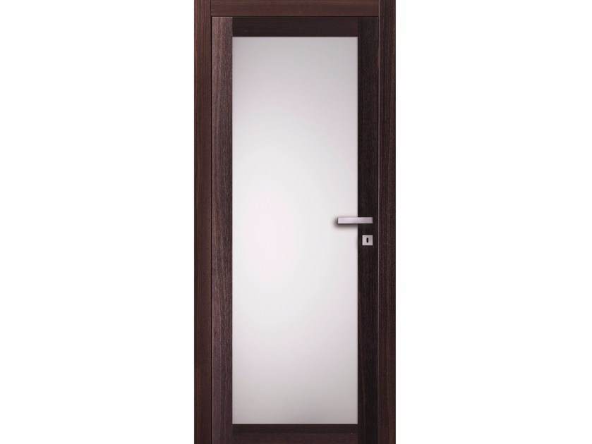Hinged wood and glass door TABACCO RVU - BARAUSSE