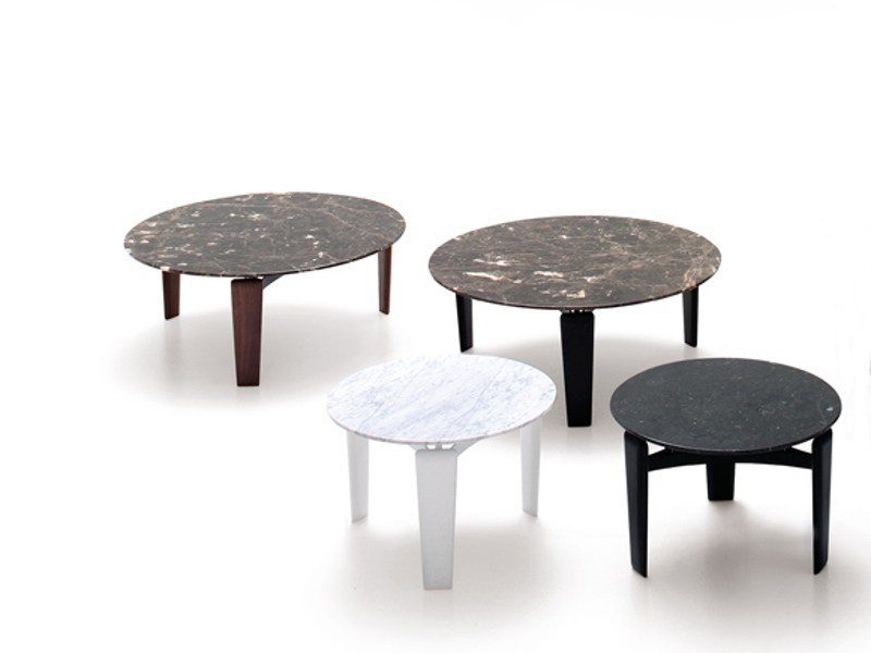 Low round marble coffee table TABLET - arflex