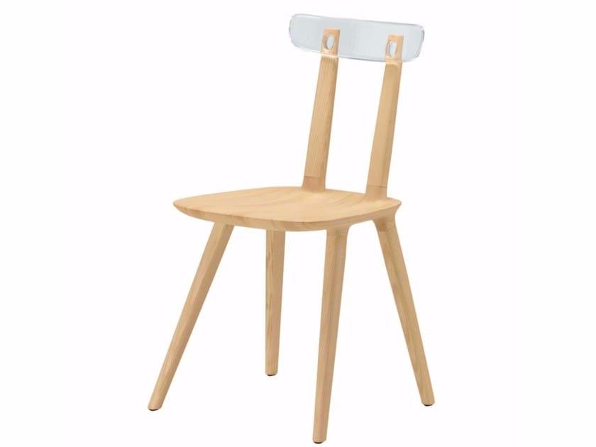 Ash chair TABU BACKREST PLASTIC - 076 - Alias