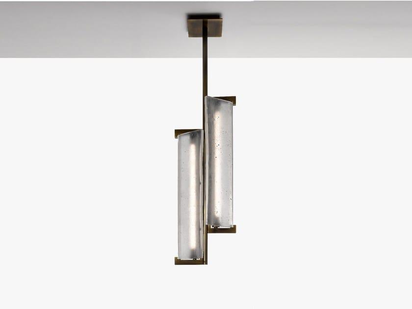 Lampada a sospensione a luce diretta in vetro TAC/TILE | Lampada a sospensione - Lasvit