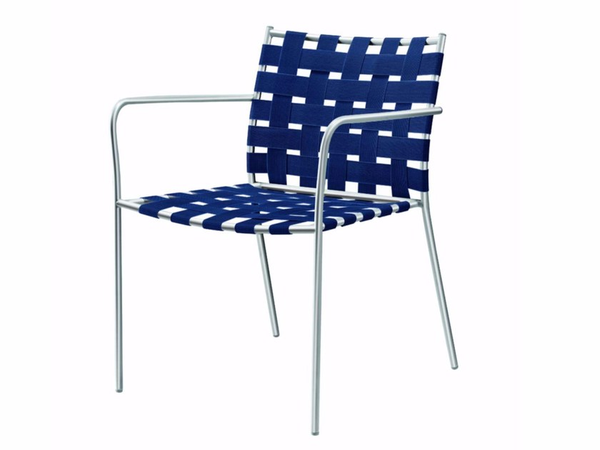 Stackable easy chair with armrests TAGLIATELLE ARMCHAIR - 717_O - Alias
