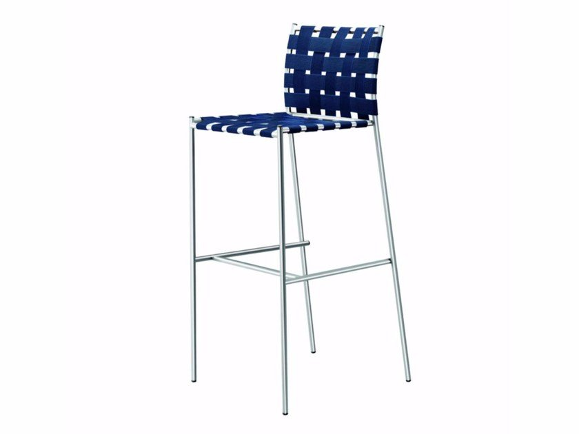 Counter stool with footrest TAGLIATELLE HIGH STOOL - 719_O - Alias