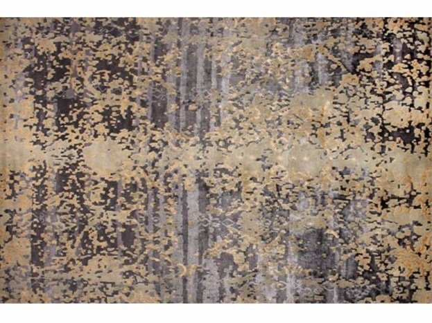 Patterned handmade rectangular rug TAIGA LICHEN - EDITION BOUGAINVILLE