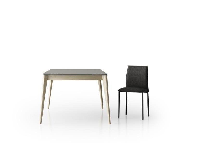 Tavolo ad altezza regolabile allungabile da cucina in legno TAIGA ...