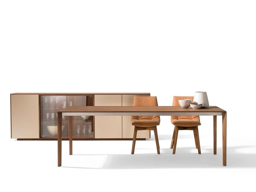 tavolo allungabile da pranzo rettangolare in legno in stile ... - Tavolo Allungabile Legno Massello Moderno