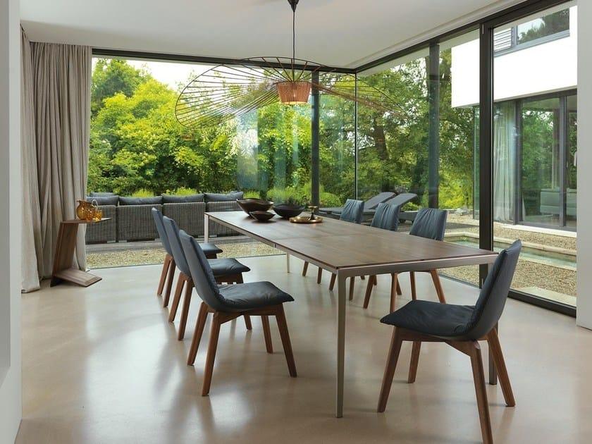 Extending steel and wood table TAK - TEAM 7 Natürlich Wohnen