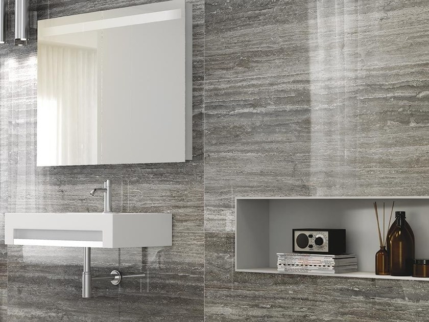 Porcelain stoneware wall/floor tiles with stone effect TALE SILVER VERSO - Ceramiche Caesar