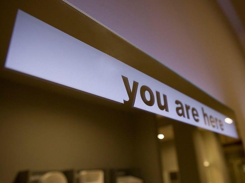 Bathroom mirror with integrated lighting TALK - Antonio Lupi Design®