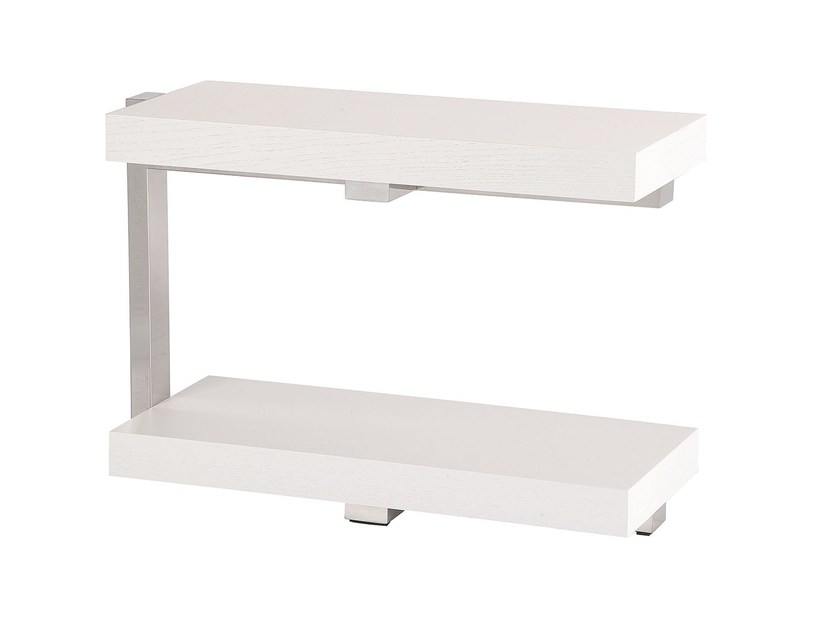 Rectangular side table with storage space TAMBORIL by Branco sobre Branco