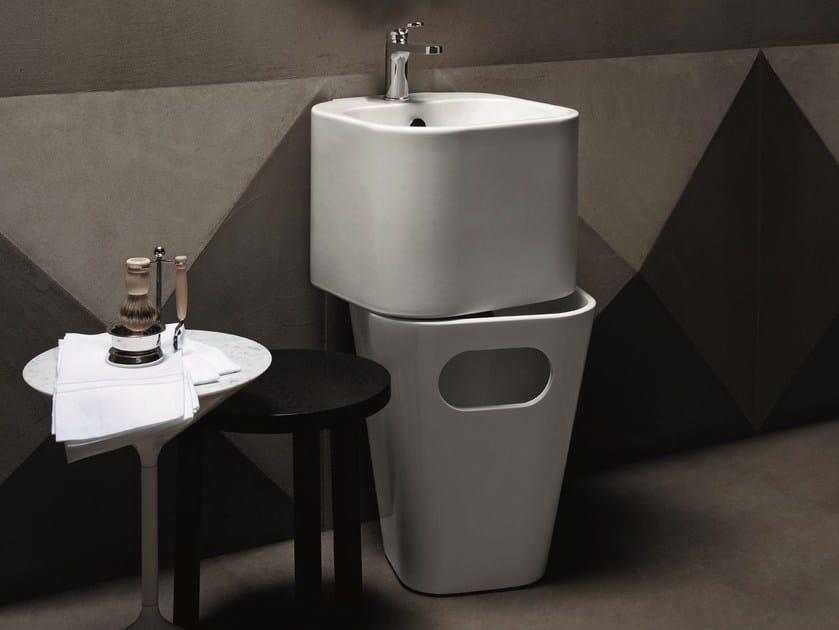 Washbasin / bathroom waste bin TANDEM by AZZURRA sanitari