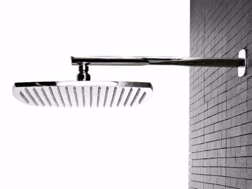 Wall-mounted brass overhead shower with arm TANGO | Overhead shower by ZAZZERI