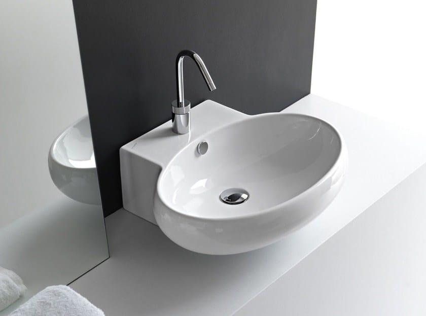 Oval ceramic washbasin TAO | Countertop washbasin - Hidra Ceramica