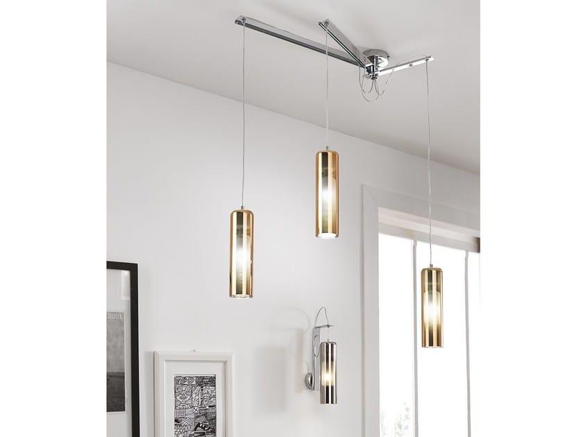 LED direct light blown glass pendant lamp TAO | Direct light pendant lamp - Cangini & Tucci