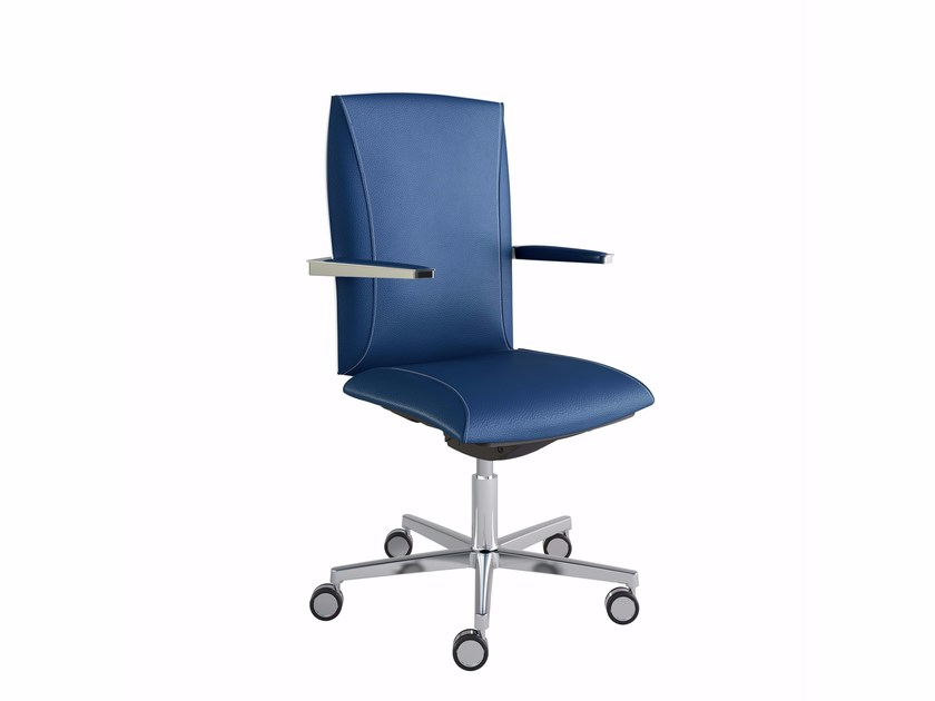 Height-adjustable executive chair with 5-spoke base with armrests TAO | Executive chair with armrests - MASCAGNI