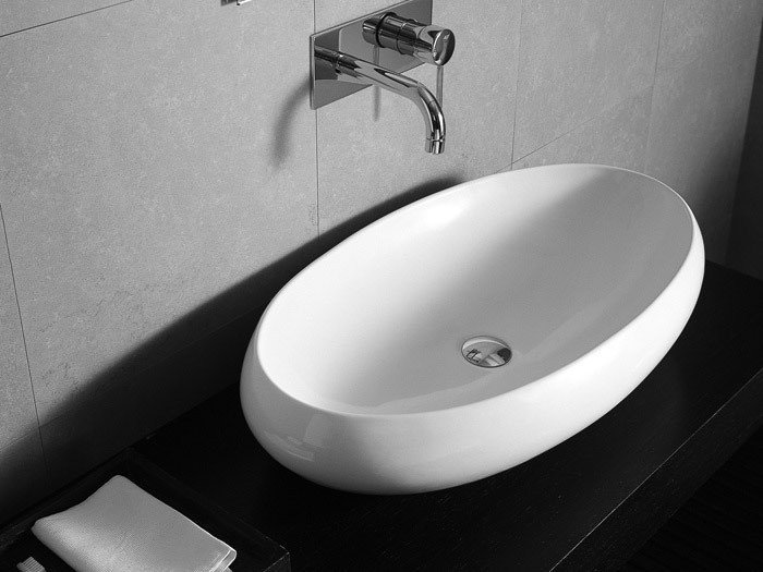 Countertop oval washbasin TAO | Ceramic washbasin - Hidra Ceramica