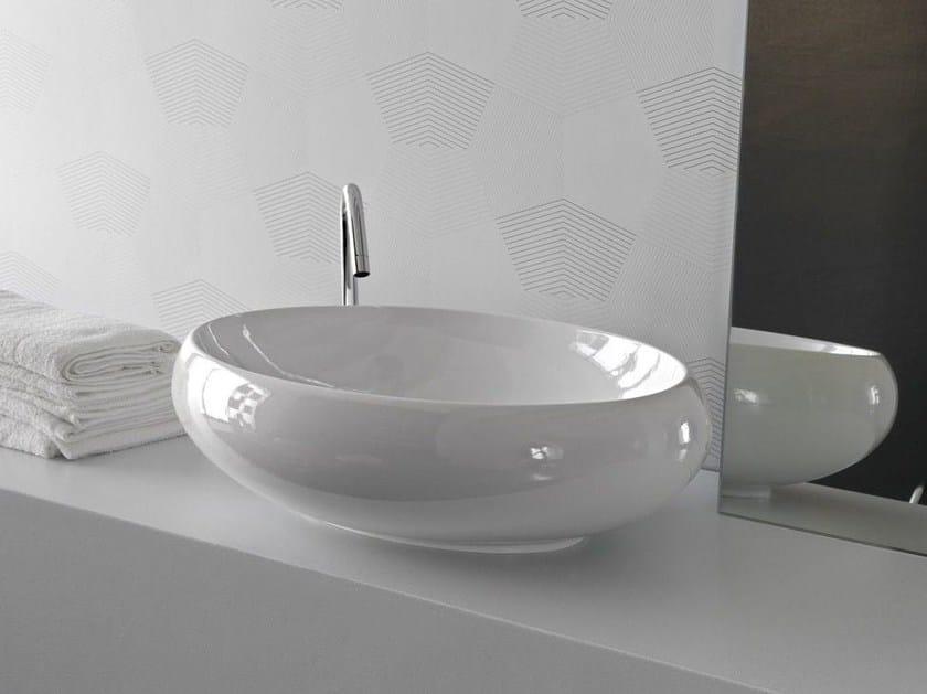 Countertop ceramic washbasin TAO | Oval washbasin - Hidra Ceramica