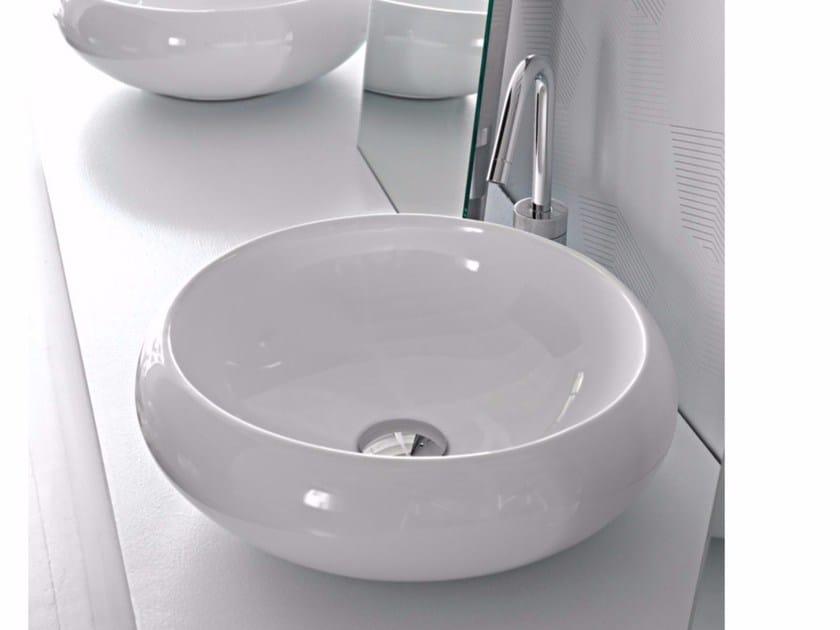 Countertop ceramic washbasin TAO | Round washbasin - Hidra Ceramica