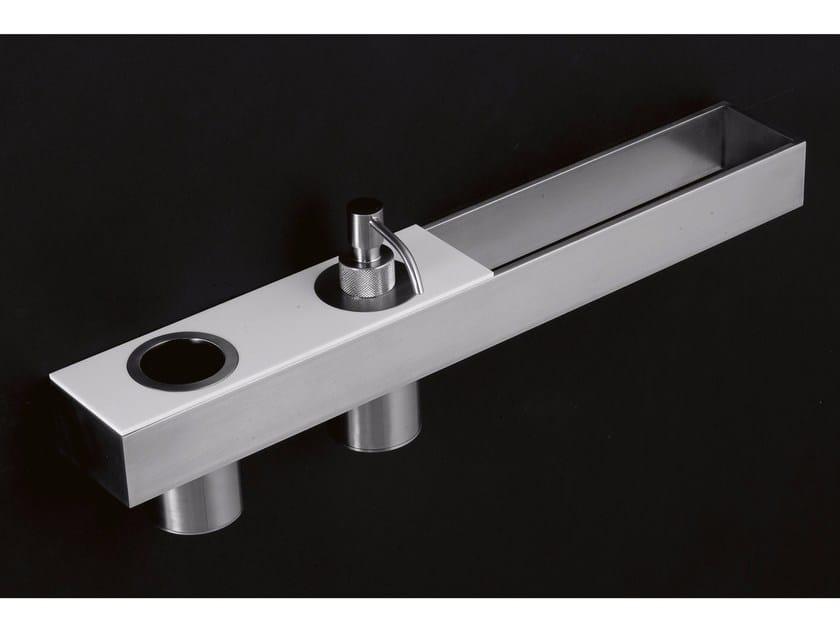 Mensola bagno accessoriata in acciaio inox tape antonio - Mensola acciaio bagno ...