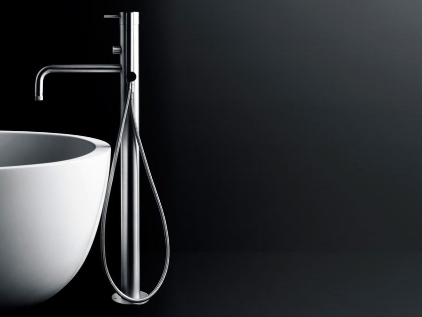 Floor standing bathtub mixer with diverter MINIMAL | Floor standing bathtub mixer - Boffi