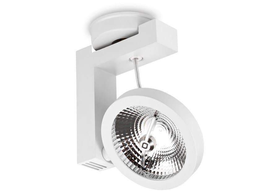 LED Ceiling adjustable aluminium light projector TARGET QR BASE - LED BCN Lighting Solutions