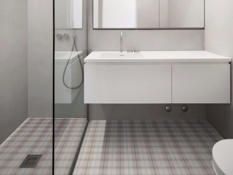 Glazed stoneware flooring with textile effect TARTAN | Flooring - ORNAMENTA