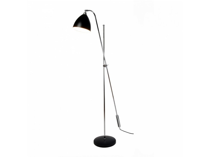 Adjustable aluminium floor lamp with dimmer TASK OVERREACH | Floor lamp - Original BTC