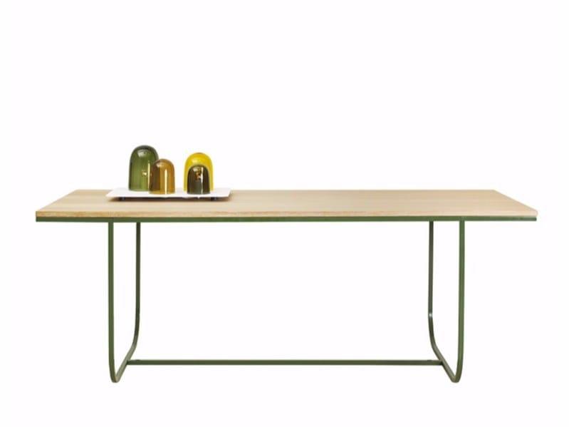 Rectangular dining table TATI | Rectangular table by ASPLUND