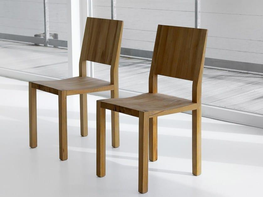 Sedia in legno massello tau sedia vitamin design - Sedia legno design ...