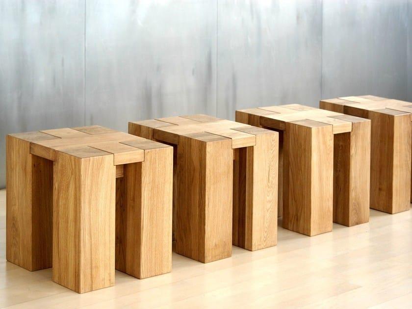Solid wood stool TAURUS | Stool by Vitamin Design