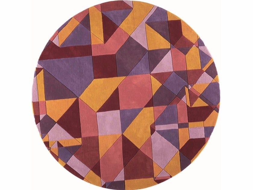 Round wool rug with geometric shapes TAVERN - Toulemonde Bochart