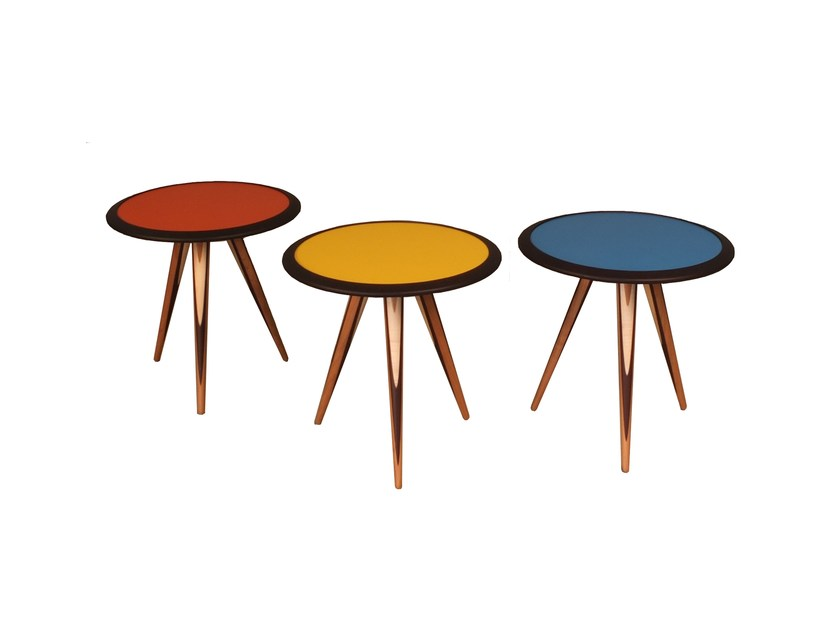 Round wooden coffee table CARAMBOLA | Round coffee table - Morelato
